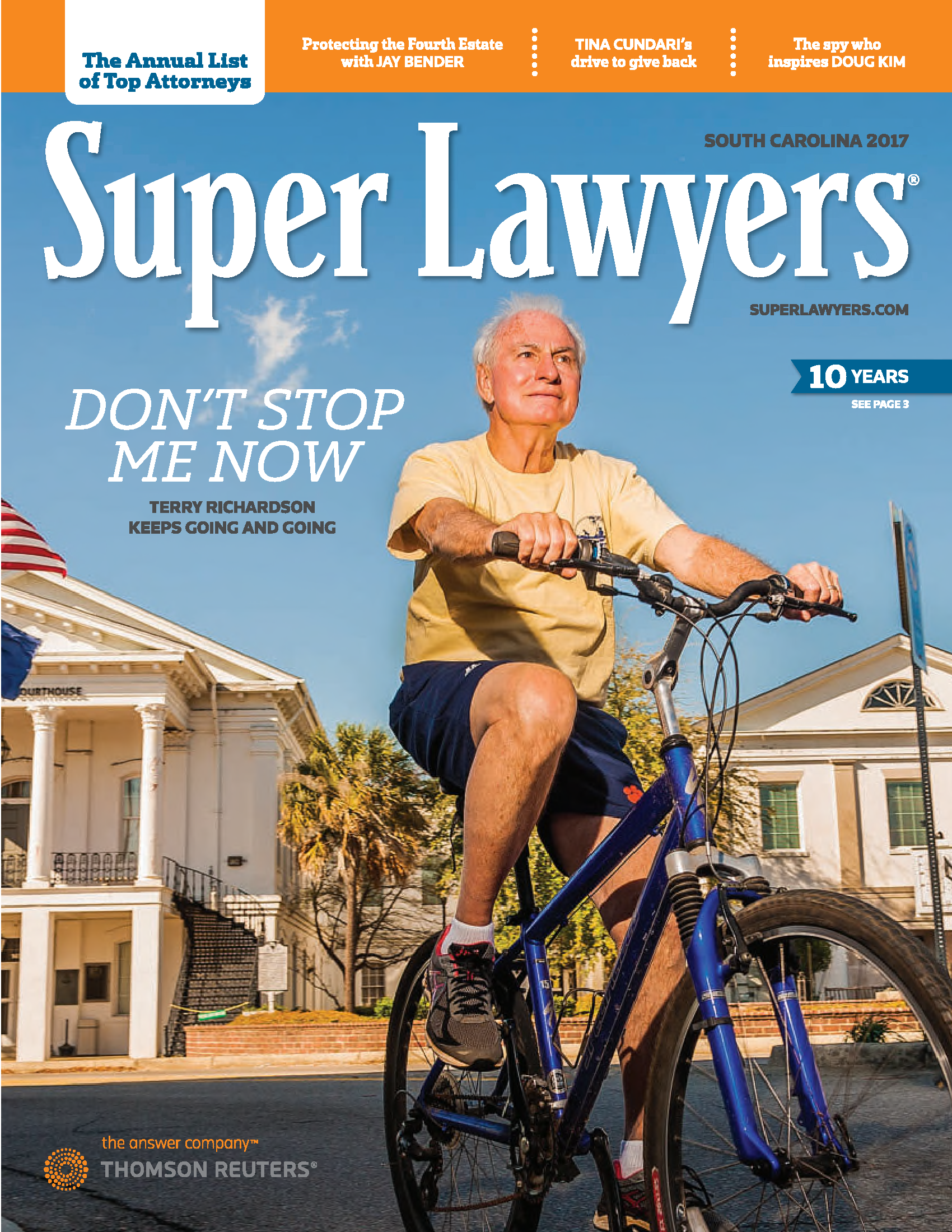 Terry Richardson Super Lawyers magazine cover